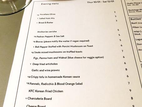 Evening menu 10/01 - 12/01