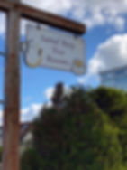 Sand Bay Tea Rooms sign