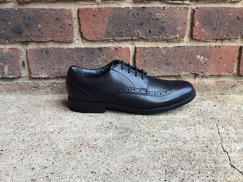 Startrite Brogue Black Leather  School Shoes