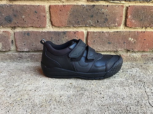 Startrite Strike Black Leather Boys  School Shoes