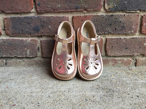 Startrite Lottie Rose Gold Leather Girls Buckle Shoe