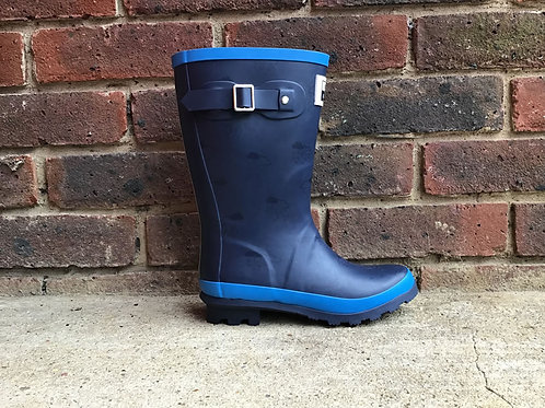 Grass & Air Navy & Turquoise Wellies