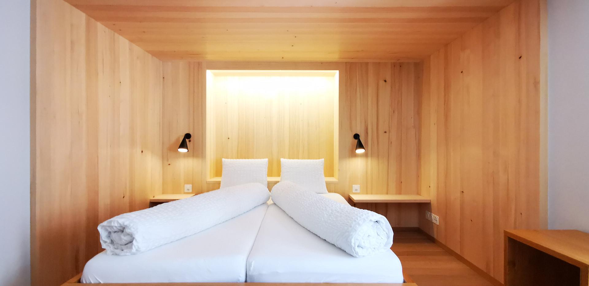 Neu renovierte Zimmer von Gion A. Caminada