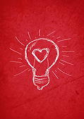 light bulb with a heart love