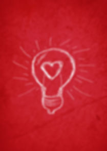 poster of lightbulb idea with heart in it