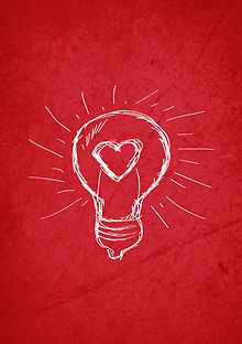 Sketch of a light bulb and a heart. Thinking and feelng, or something like that may be evoked from a stock image like this one.