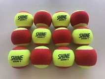 SHINE (STAGE 3) RED & YELLOW TWO TONE Tennis ball for Kids