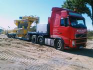 Transport elementu wytwórni betonowej (wymiary ładunku: 6,20 x 3,30 x 3,60m waga: 18,0t)