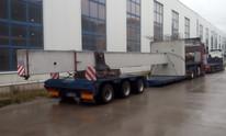 Transport słupa betonowego (wymiary ładunku: 14,50 x 2,50 x 2,50m waga: 25,0t)