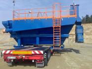 Transport wewnątrz zakładowy maszyny na terenie żwirowni (wymiary ładunku: 6,80 x 7,00 x 4,20m waga: 37,0t)