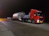 Transport zbiornika (elementu wytwórni betonu) (wymiary ładunku: 7,50 x 3,50 x 3,50m waga: 15,0t)