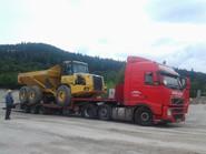 Transport wozidła przegubowego BELL B30 (wymiary ładunku: 9,57 x 2,99 x 3,42m waga: 18,2t)