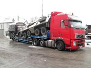 Transport SKOT-a i Ził-a (wymiary ładunku: 13,20 x 2,55 x 3,20m waga: 24,00t)