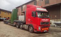 Transport maszyny - obrabiarki CNC (wymiary ładunku: 3,20 x 2,30 x 3,57m waga: 8,5t)