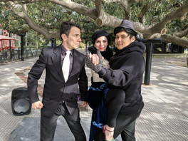 Arjuna baila tango