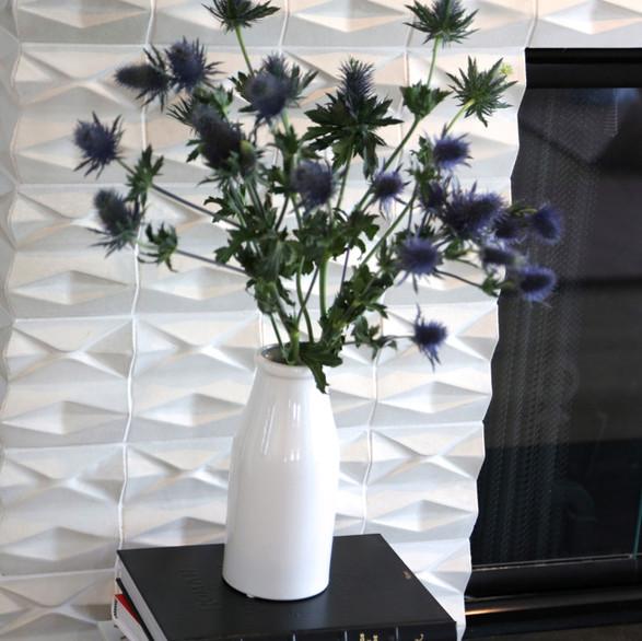 Concrete Tile With A White Glaze