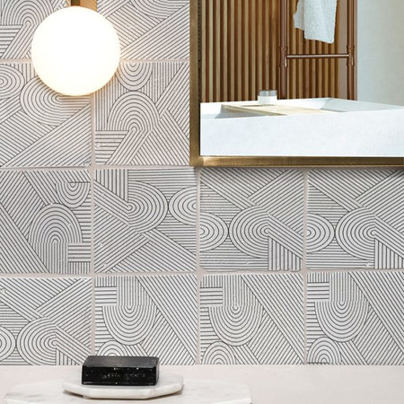Hand Painted Tiles -Modern Look