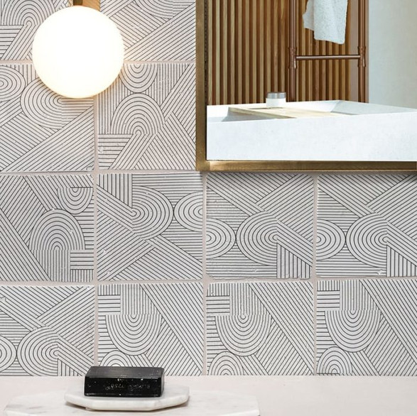 Hand Painted Tiles -Modern Look