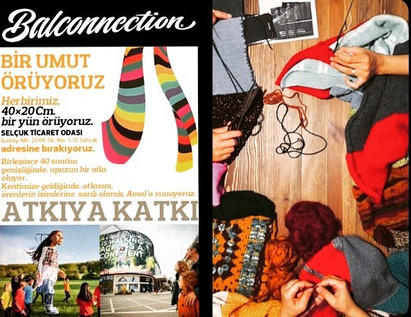 "Amal için ""Atkıya Katkı"" / Contribution to shawl for Amal"