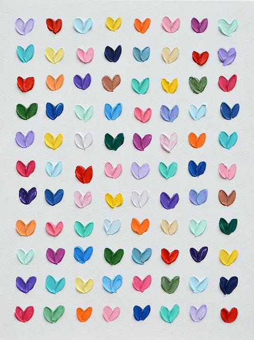 "Polka Daub Love, 24""x18"""