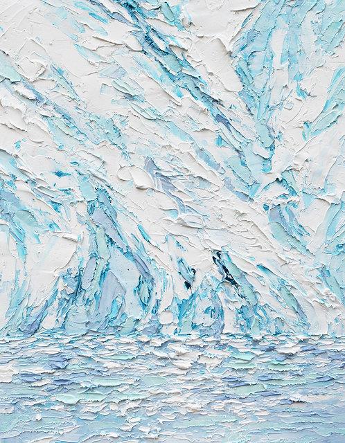 """Glacial Cliff, 20""""x16"""""""