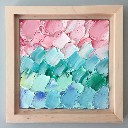 """Abstracted Spring, 8""""x8 framed to 10.3""""x10.3"""""""
