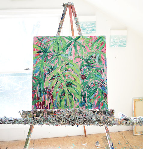 "Bermuda Palm 20""x20"""