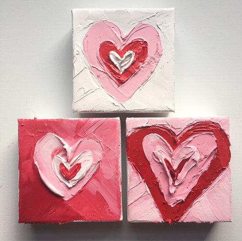 """Valentines, 4""""x4"""" each"""