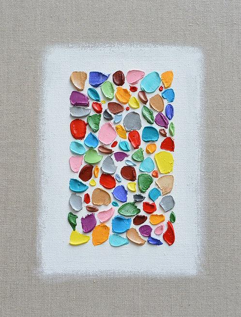 """Mosaic Polka Daubs, 14""""x11"""""""