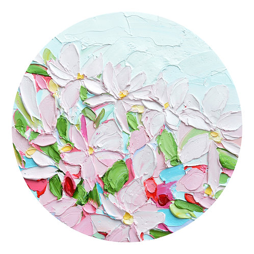"Yoshino Petals No. 2, 10"" diameter"