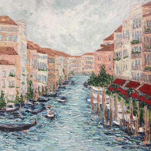 "Grand Canal, Venice, 30""x30"""