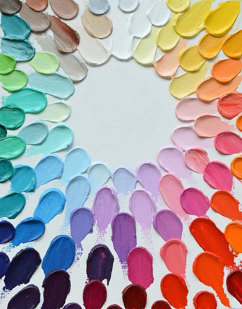 "Rainbow Infinity Daubs, 14""x11"""