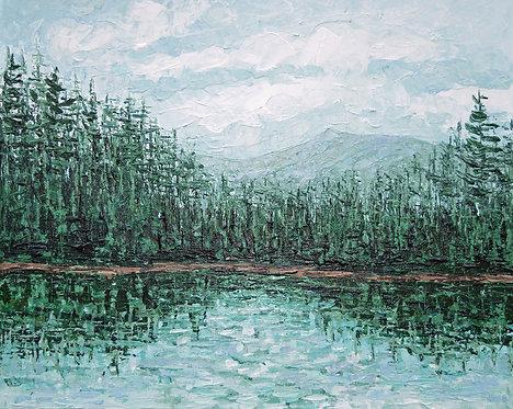 """Trillium Lake, 20""""x24"""""""