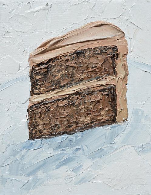 "Chocolate Cake, 10""x8"""