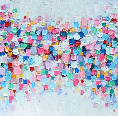 "Rainbow Confetti 16""x16"""