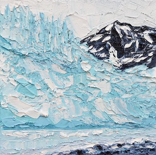 """Aialik Glacier, 10""""x10"""""""