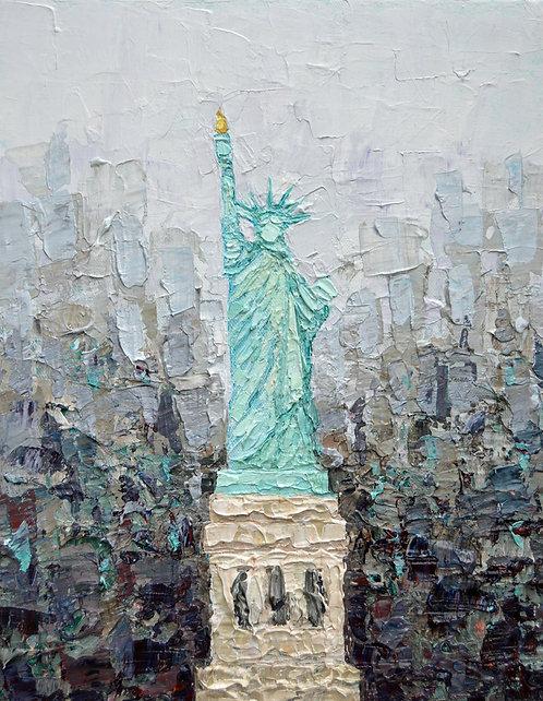 """Lady Liberty, 14""""x11"""""""