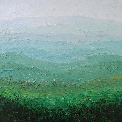 """Blue Ridge Mist, 24""""x24"""""""