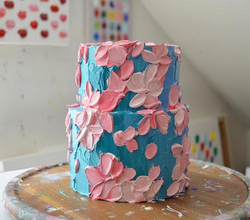 Ultramarine Blooms Cake