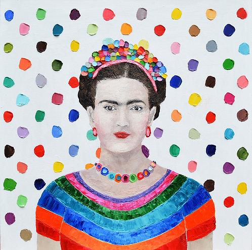 """Polka Daub Frida, 30""""x30"""""""