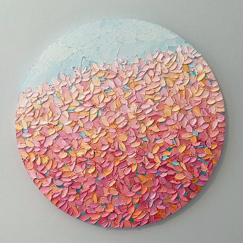"""Autumn Sunburst, 24"""" diameter"""