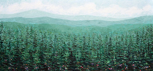 "Oregon Pines, 24""x50"""