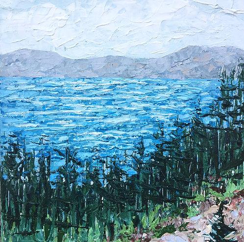"""Crater Lake, 12""""x12"""""""