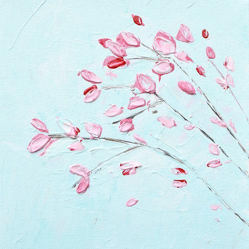 "Okame Blooms 3, 8""x8"""