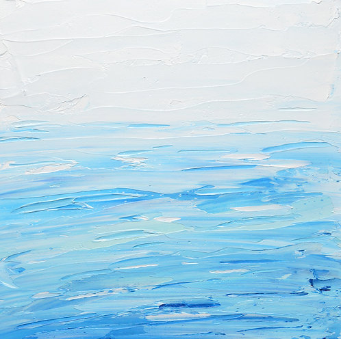 """Abstracted Sea, 8""""x8"""""""