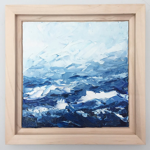 """Abstracted Waves, 8""""x8"""" framed to 10.3""""x10.3"""""""