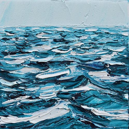 "Petite Waves, 6""x6"""