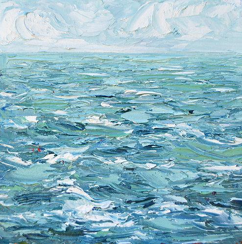 """Stormy Seas 14""""x14"""""""