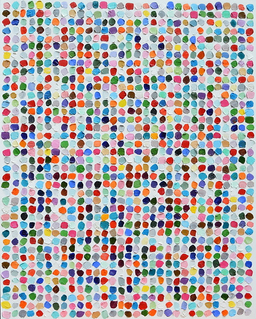"Colossal Polka Daubs 48""x60"""