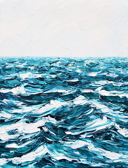 "Sapphire Seas, 18""x14"""